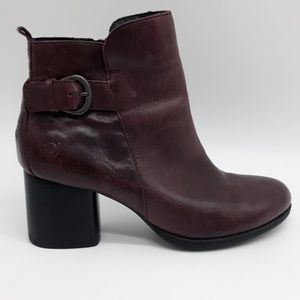 Born Side Zip Leather Ankle Boots Sz NWOT Sz 7 1/2